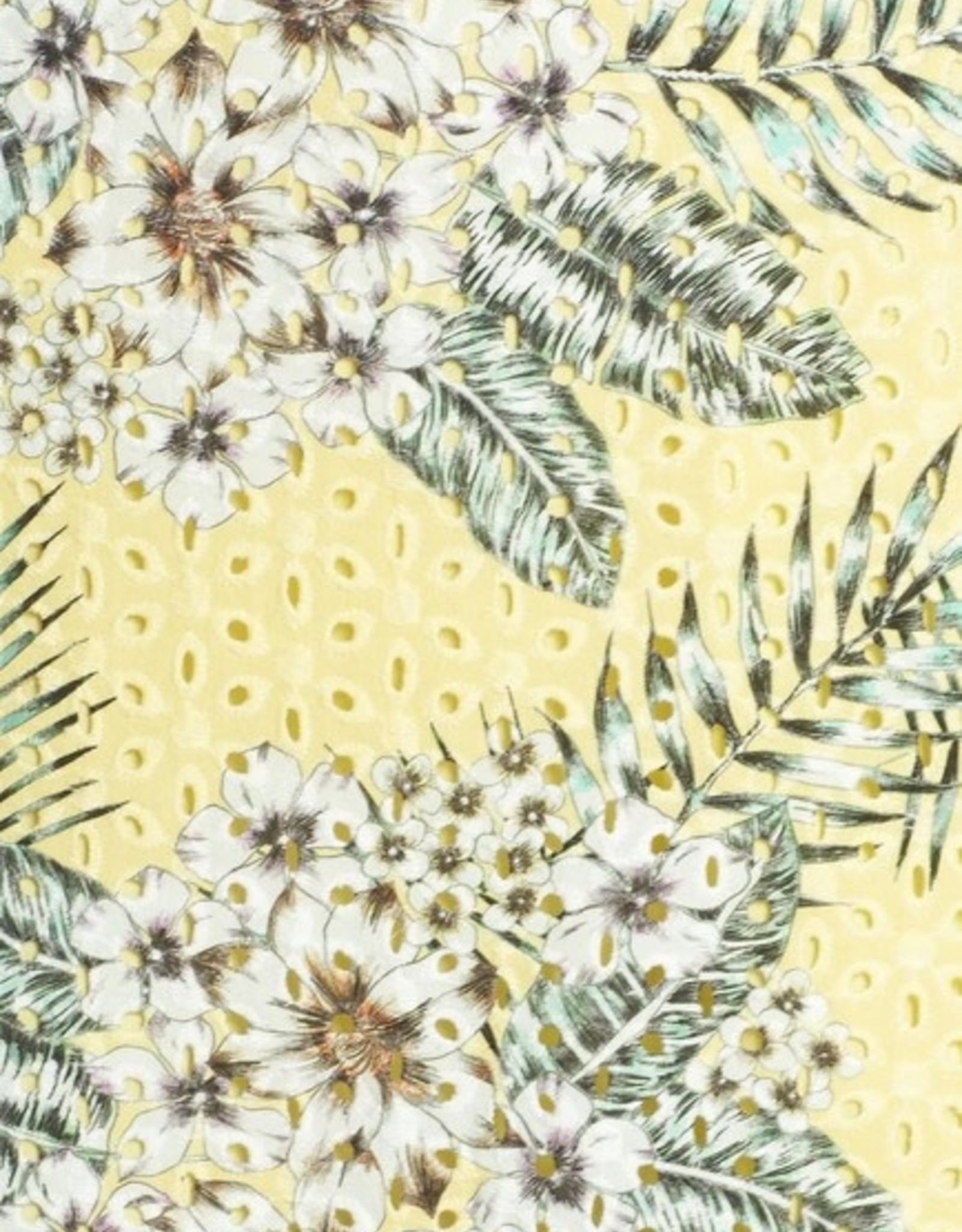 BB Dakota Floral Palm Print Eyelet