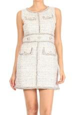 Ina Sleeveless Tweed Dress