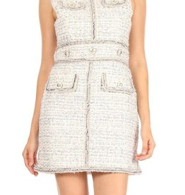 Ina Sleeveless Tweed Dress