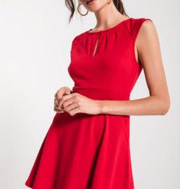 Black Swan Keyhole Red Dress
