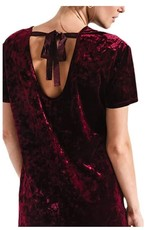 Z Supply Velour Tie Back Midnight Berry