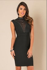 Wow Stud Embellished Bandage Dress