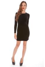 Alexia Admor Black Velvet Zip Long Sleeve