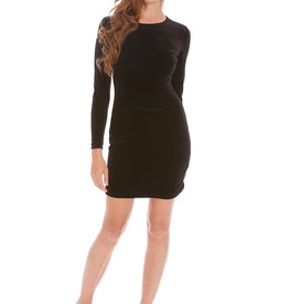 Alexia Admor Black Velvet Zip Long Sleeve