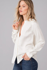 Rag Poets Button Down Satin Blouse