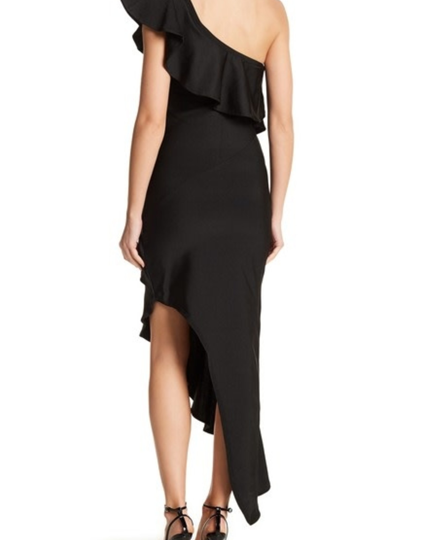 Wow Asymmetric One Shoulder Ruffle