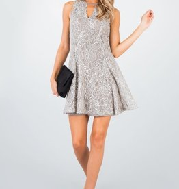 Others Follow Metallic Lace Dress