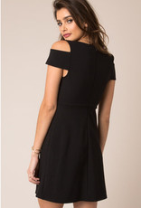 Black Swan Cold Shoulder Dress Blk