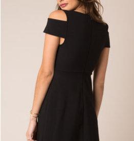 Black Swan Cold Shoulder Dress Blk