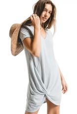 Z Supply Triblend Side Knot Dress H Grey