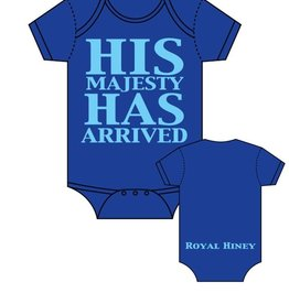 Sara Kety Onesie His Majesty 6-12 Months Blue