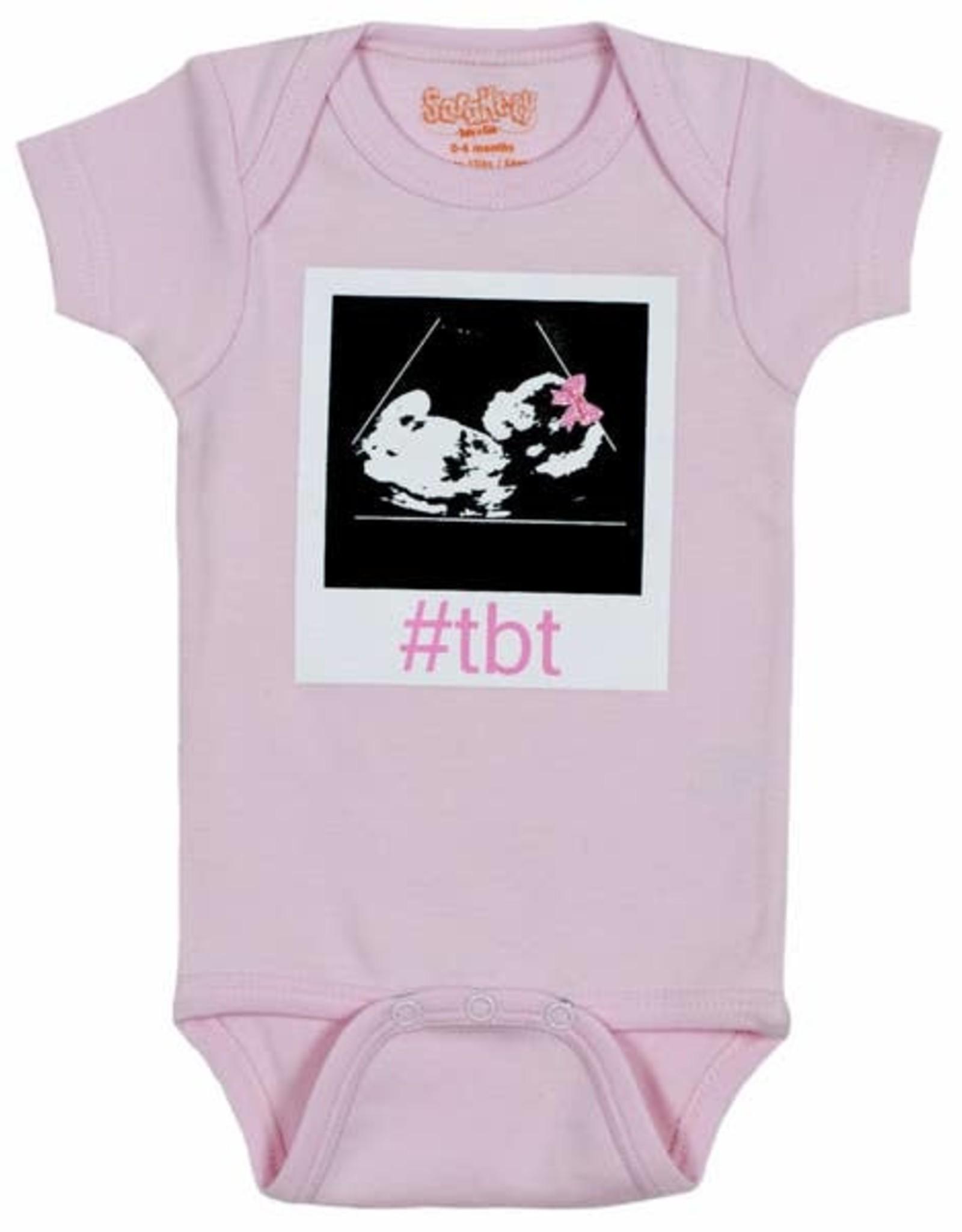 Sara Kety Onesie #TBT Girl 6-12 Months Pink