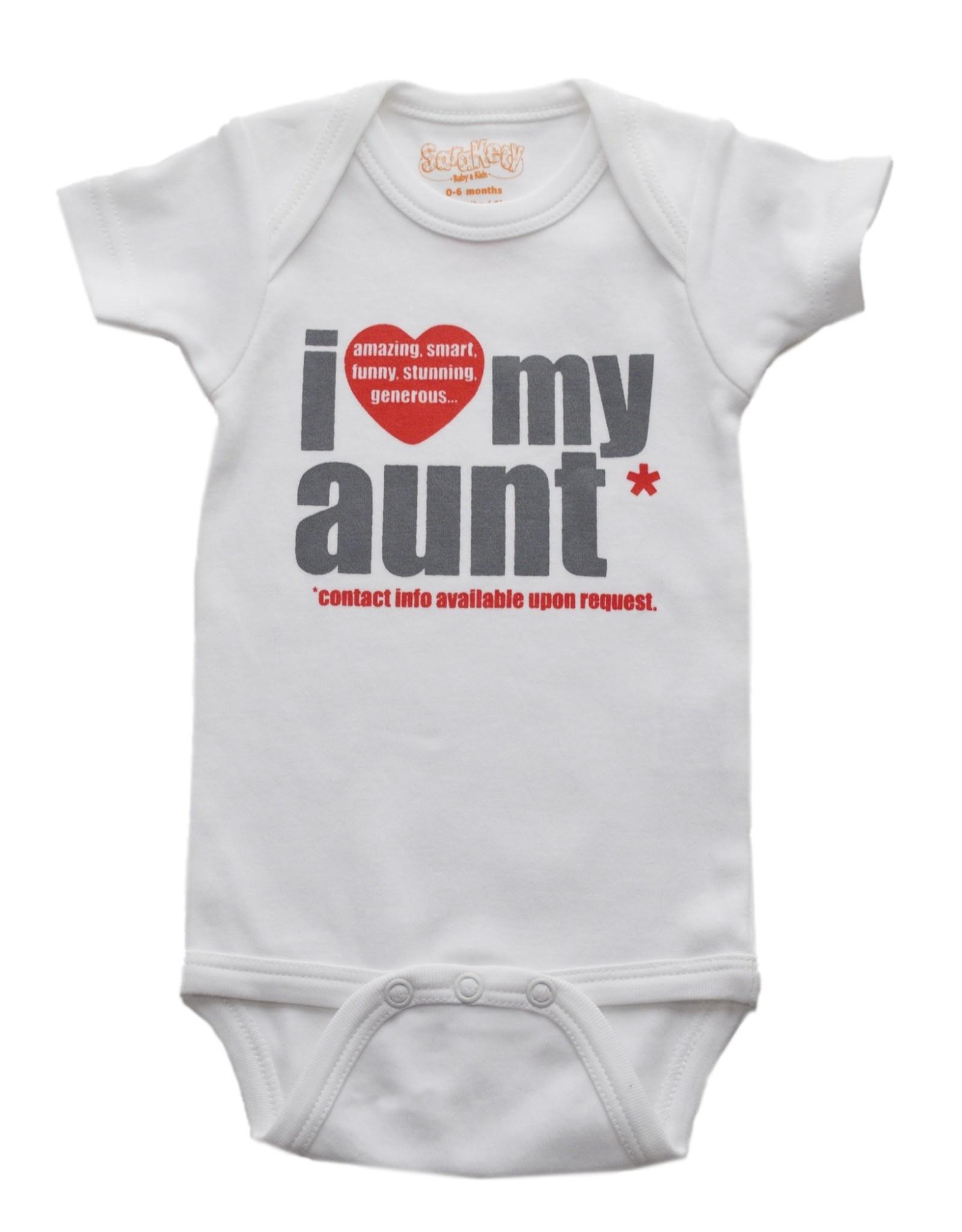 Sara Kety Onesie Love Aunt 12-18 Months Wht