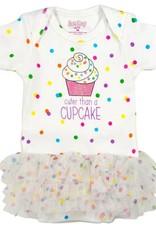 Sara Kety Onesie/Tutu Cupcake 9 Months Wht