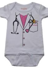 Sara Kety Onesie Dr Girl 6-12 Months White