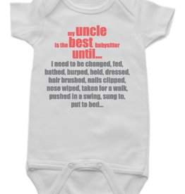 Sara Kety Onesie Best Uncle 12-18 Months Wht