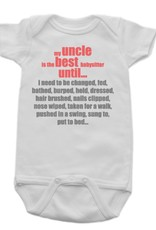 Sara Kety Onesie Best Uncle 6-12 Months Wht