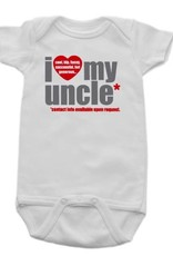 Sara Kety Onesie Love Uncle 6-12 Months Wht