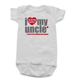 Sara Kety Onesie Love Uncle 6-12 Months Wht