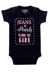 Sara Kety Onesie Jeans Pearls 6-12 Months Blk