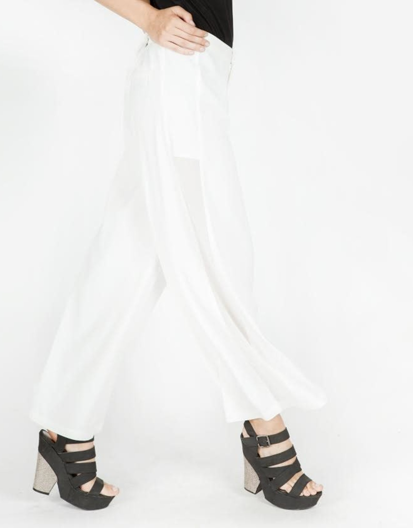 Miilla Sheer Panel Trouser Off Wht