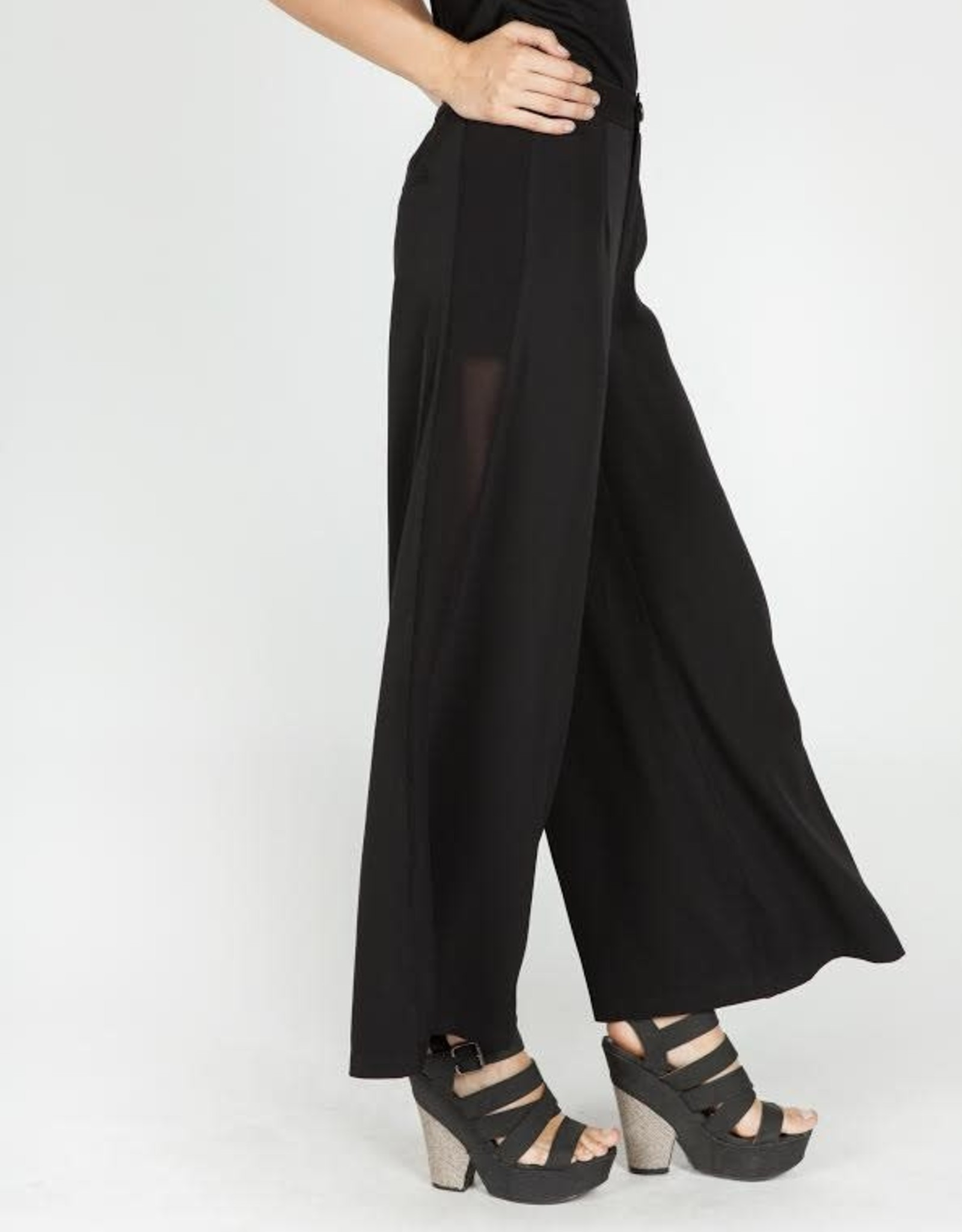 Miilla Sheer Panel Trouser Blk