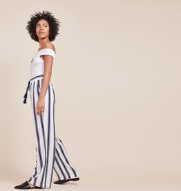 BB Dakota Navy Wht Striped Pant