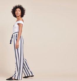Navy Wht Striped Pant