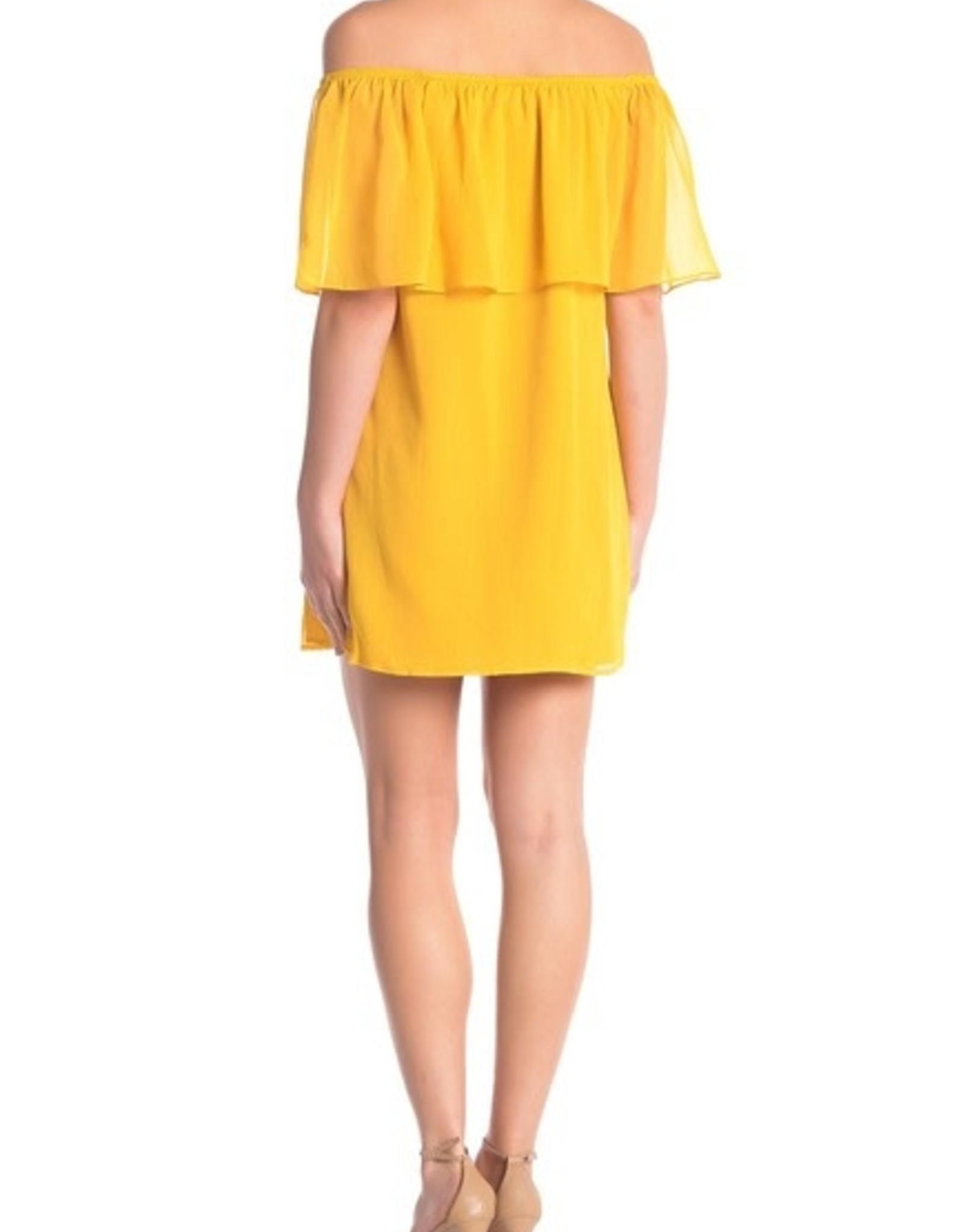 BB Dakota Off-the-Shoulder Mimosa Ruffle Dress