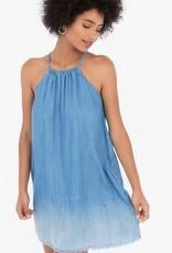Rag Poets Chambray Blue Raw Edge Dress