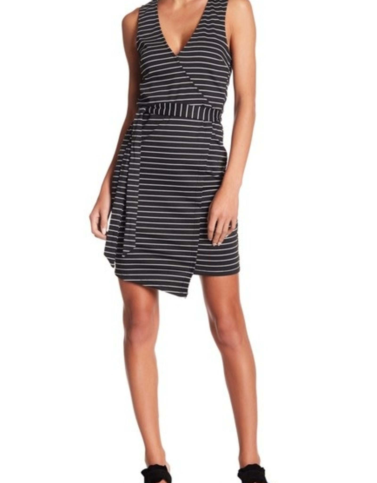 Jack Black Stripe Wrap Dress