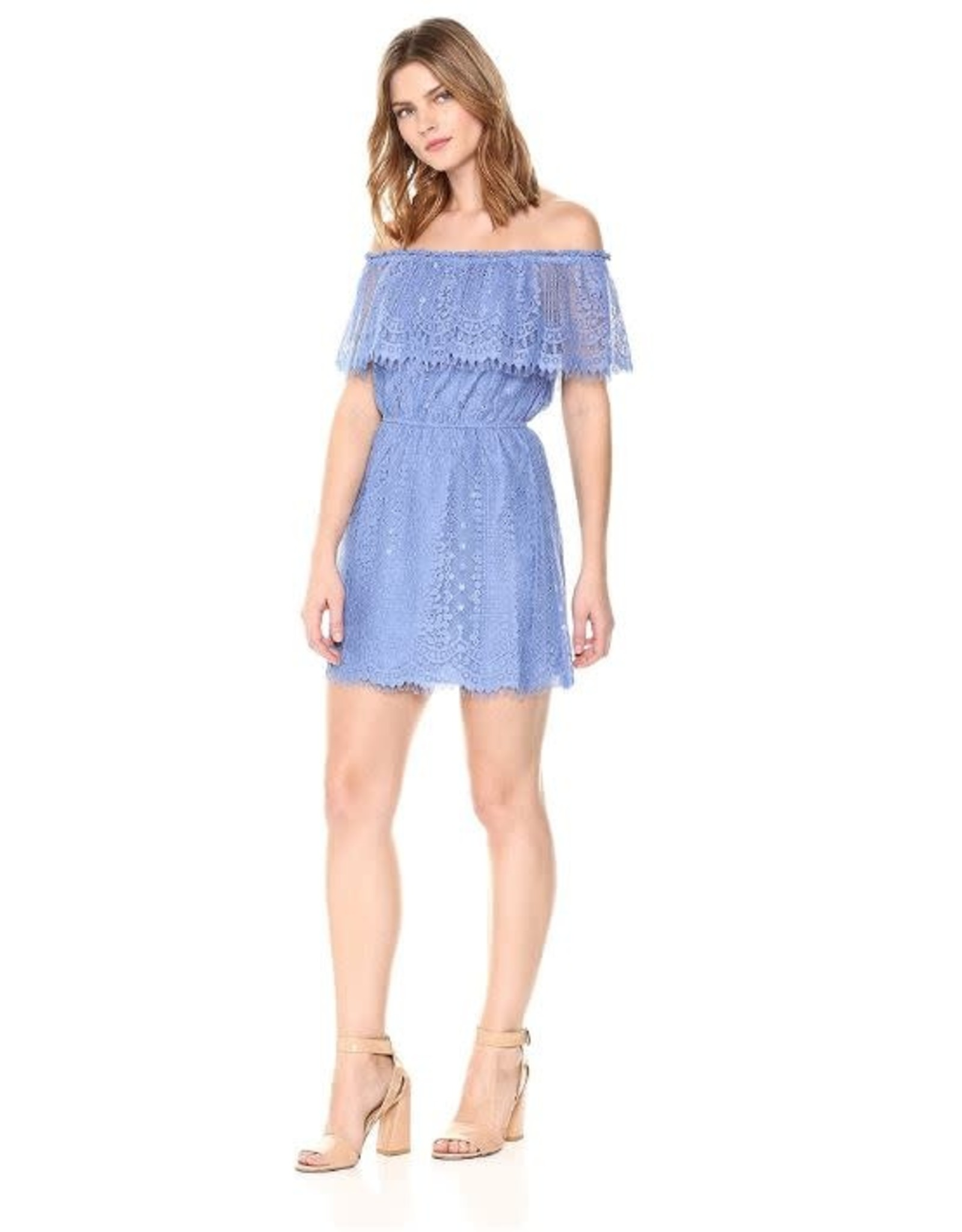 BB Dakota French Blue Lace Off Shoulder