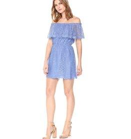BB Dakota French Blue Lace Off Shoulder