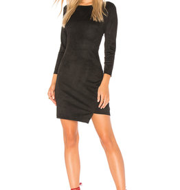 Jack Faux Suede Back Cut-Out Dress