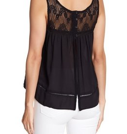 BB Dakota Button Split- Back Lace Tank