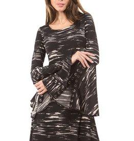 Ariella Bell Sleeve Dress w/Grommet