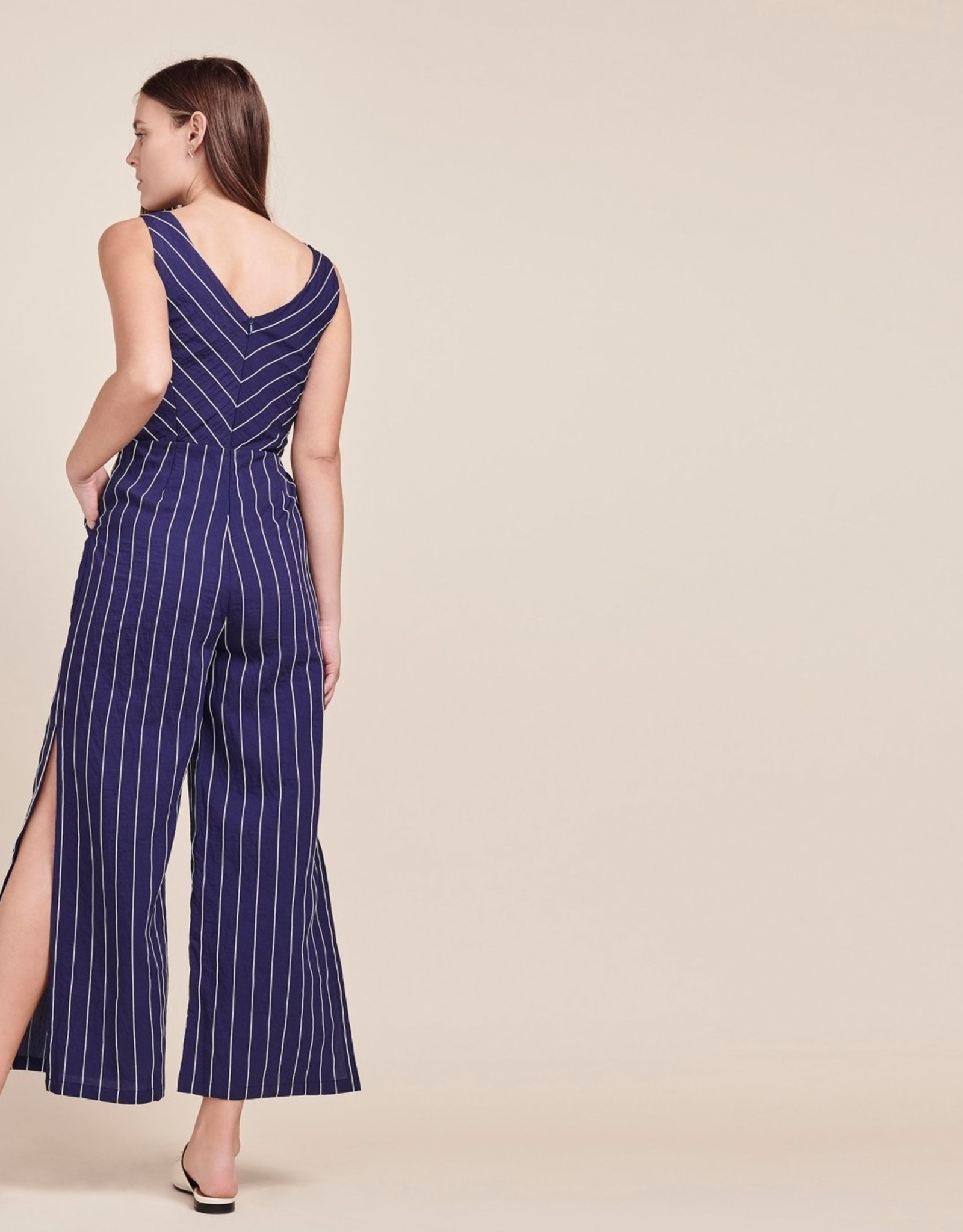 BB Dakota Embroidered Pinstripe Jumpsuit
