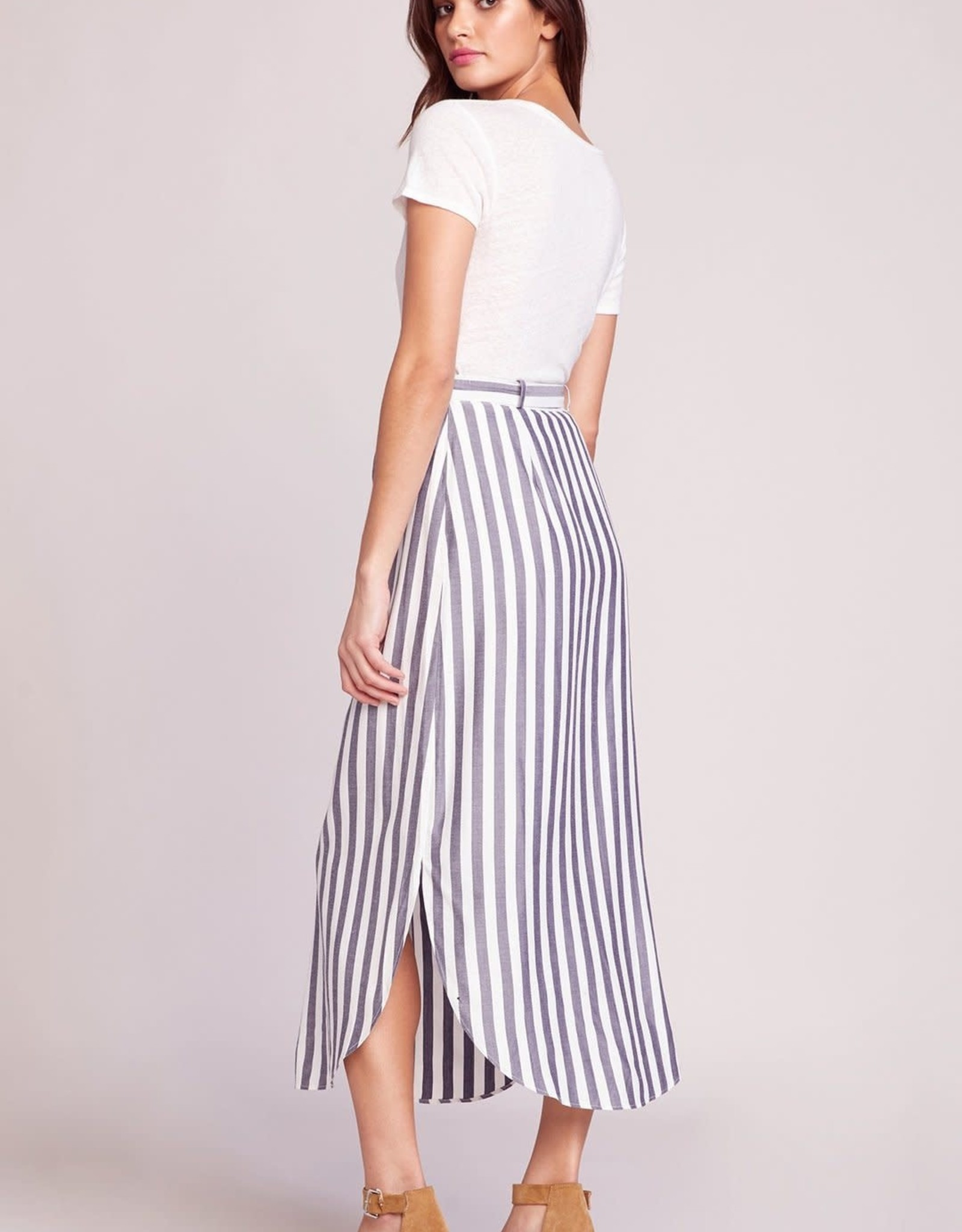 BB Dakota Stripe Button-Down Skirt