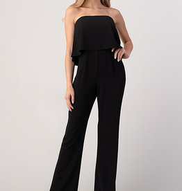 Minuet Statement Ruffle Jumpsuit Black