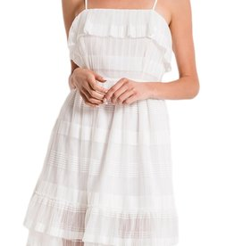 Black Swan Tiered White Dress