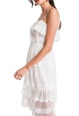Tiered White Dress