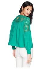 Jack Long Sleeve Lace Blouse Green