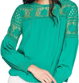 Jack Long Sleeve Lace Blouse Green