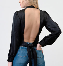 Minuet Open Tie- Back Blouse
