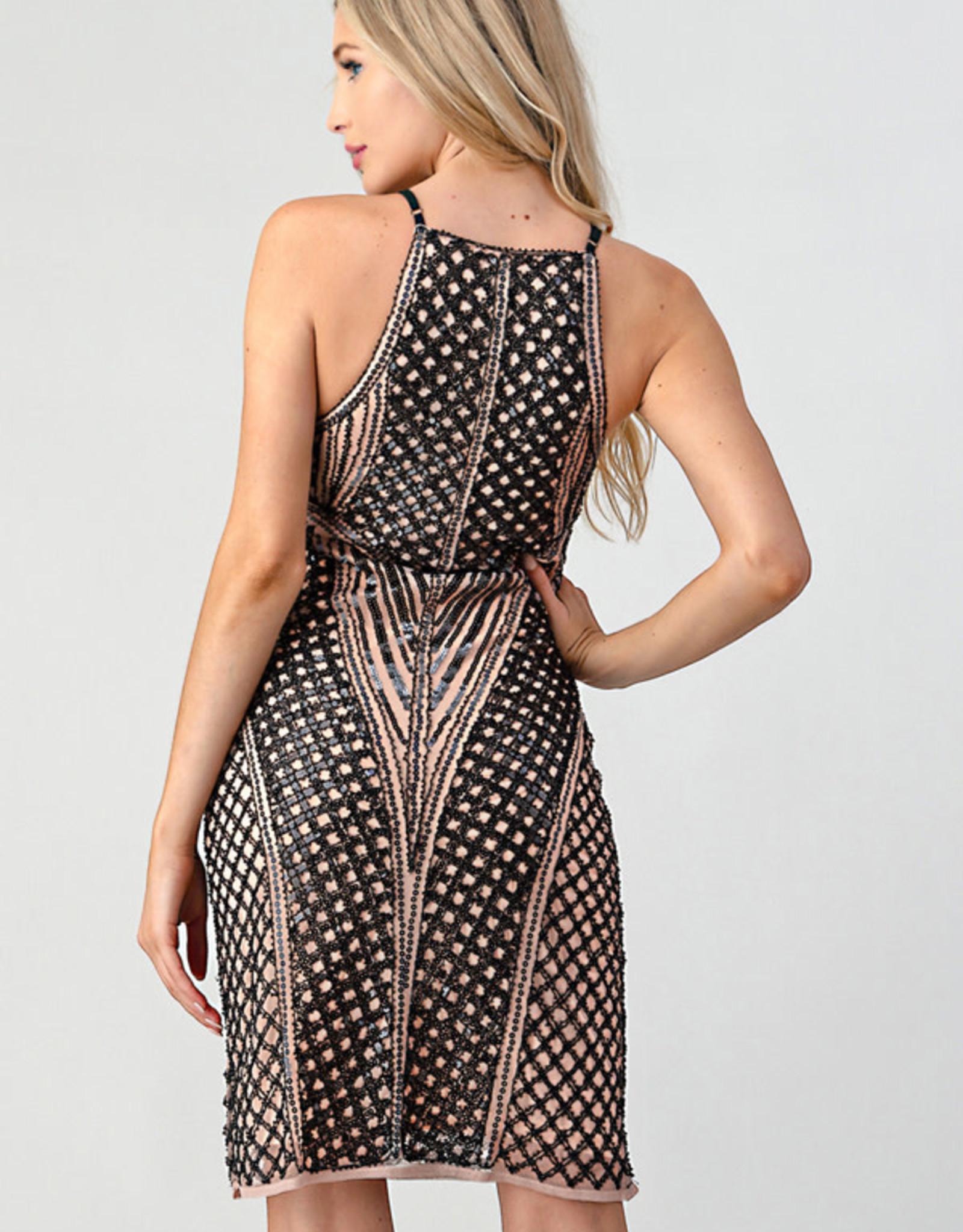 Nude/Black Dress
