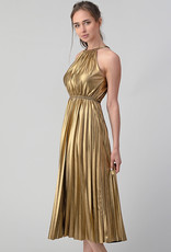 Minuet Gold Pleated Midi