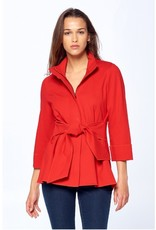 Luii Belted Jacket Red
