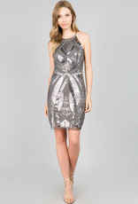 Allover Silver Sequins Dress