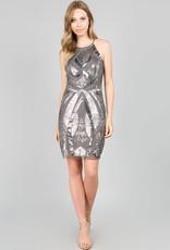 Minuet Allover Silver Sequins Dress