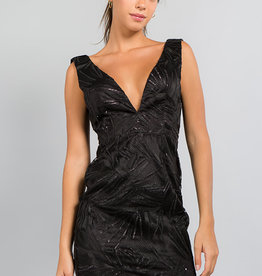 Minuet Black Deep V Dress